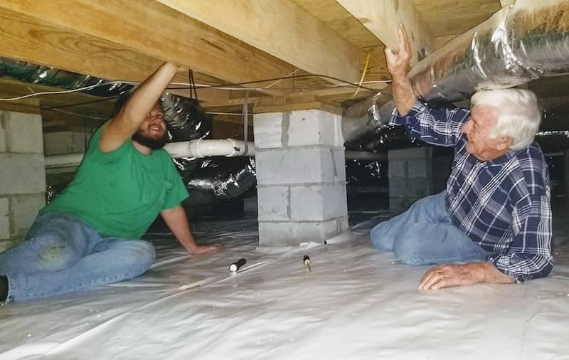 Hubert Lowe and Nathan Ingram at a Home Inspection